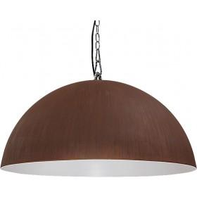Hanglamp Industrieel Larino rust/white 80cm met ketting