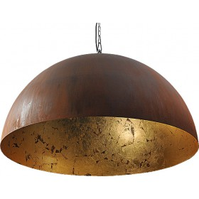 Hanglamp Industrieel Larino rust/gold leaf 100cm met ketting