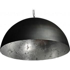 Hanglamp Industrieel Larino gun metal/silver leaf 100cm met ketting