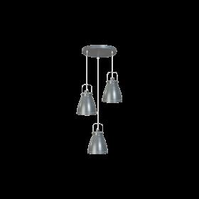 Hanglamp Acate 3-lichts Speels Grijs