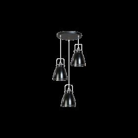 Hanglamp Acate 3-lichts Speels Zwart