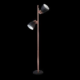 Vloerlamp Acate 2-lichts Koper Accent