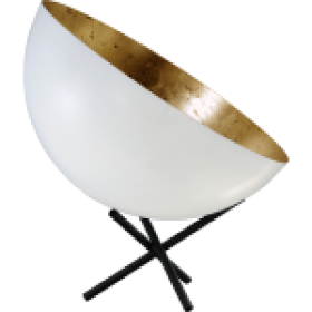 Tafellamp Larino White Goldleaf Masterlight