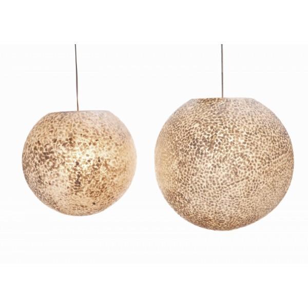 Hanglamp schelpen - Verlichting-webshop.com - Hanglamp Wangi Wit Bol