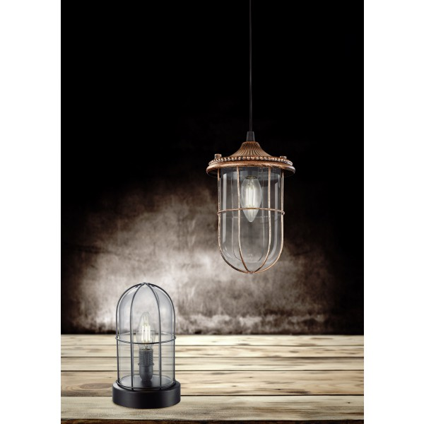 hanglamp vintage birte grijs. Black Bedroom Furniture Sets. Home Design Ideas