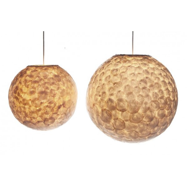 Top Hanglamp Full Shell Bol - Verlichting-webshop.com - Grote GB97