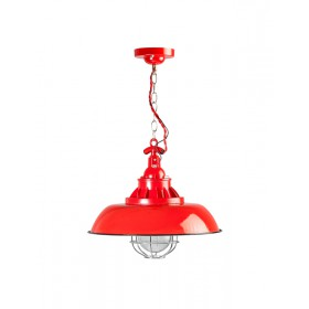 Hanglamp Industrieel Consenza Rood