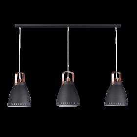 Hanglamp Acate 3-lichts Koper Accent