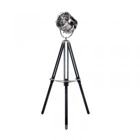 Vloerlamp Guspini Nikkel/Zwart
