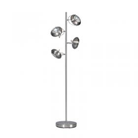 Vloerlamp Mileto Staal 4-lichts