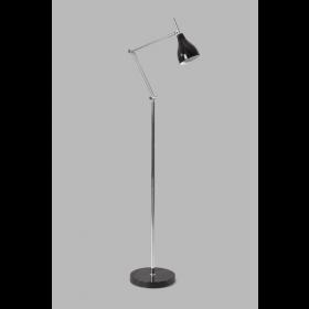 Vloerlamp Adranao Zwart/Chroom 135 cm