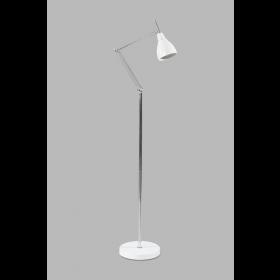 Vloerlamp Adranao Wit/Chroom 135 cm
