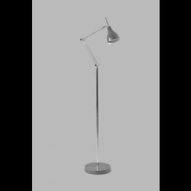 Vloerlamp Adranao Grijs/Chroom 135 cm