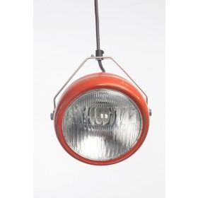 Hanglamp Industrieel Koplamp No.5 Rood