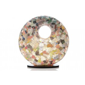 Tafellamp Glass Multicolor Donut