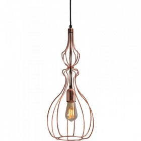 Hanglamp Shiny Copper Caged Pear Concepto Masterlight 2017-56-22