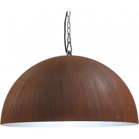 Hanglamp Industrieel Larino rust/white 60cm met ketting