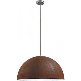 Hanglamp Industrieel Larino rust/white 60cm