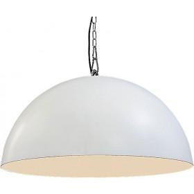 Hanglamp Industrieel Larino white/white 80cm met ketting