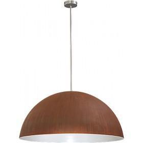 Hanglamp Industrieel Larino rust/white 80cm
