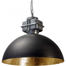 Hanglamp Industrieel Larino gun metal/gold leaf BOX
