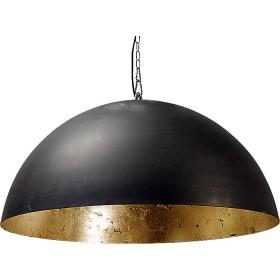 Hanglamp Industrieel Larino gun metal/gold leaf 80cm met ketting