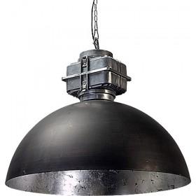 Hanglamp Industrieel Larino gun metal/silver leaf BOX