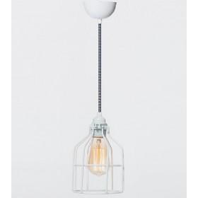 Hanglamp Industrieel Kooi No.15 Wit