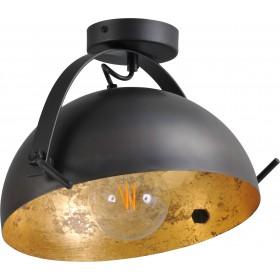 Plafondlamp Larino Gunmetal Goldleaf 30 cm Masterlight