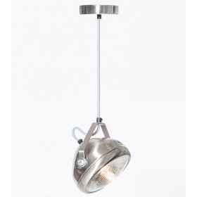 Hanglamp Industrieel Koplamp No.5 RVS