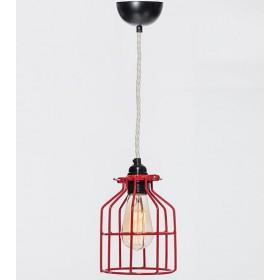 Hanglamp Industrieel Kooi No.15 Rood