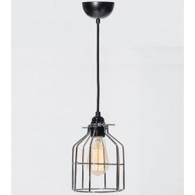 Hanglamp Industrieel Kooi No.15 Zilver
