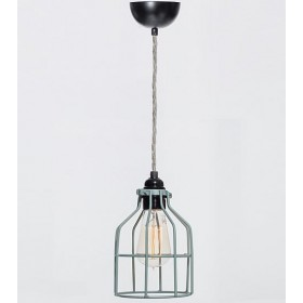 Hanglamp Industrieel Kooi No.15 Dusty Mint