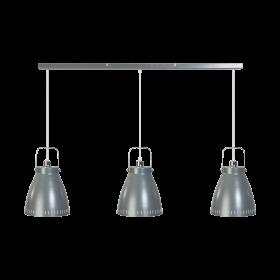 Hanglamp Acate 3-lichts Strak Grijs