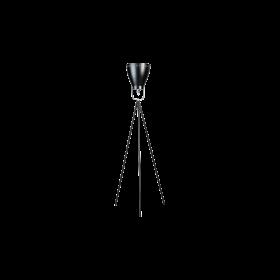 Vloerlamp Acate Driepoot Zwart/Chroom 165 cm