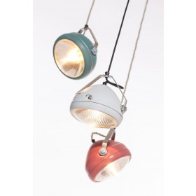 Hanglamp Industrieel Koplamp No.5 Wit