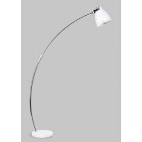 Vloerlamp Acate Boog Wit/Chroom 175 cm
