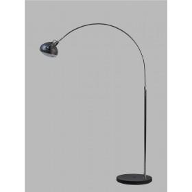 Vloerlamp Head Boog Chroom/Zwart 173 cm