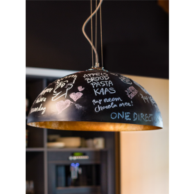 Hanglamp Mezzo Krijt Zwart/Zilver 70 cm