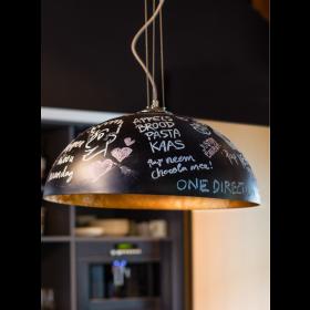 Hanglamp Mezzo Krijt Zwart/Goud 70 cm