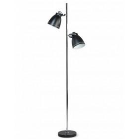 Vloerlamp Acate Zwart/Chroom 175 cm