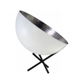 Tafellamp Larino White Silver leaf Masterlight