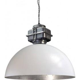 Hanglamp Industrieel White Silver Leaf 80 cm BOX