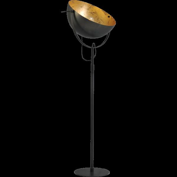 Vloerlamp Larino  60 cm Gunmetal Goldleaf Masterlight