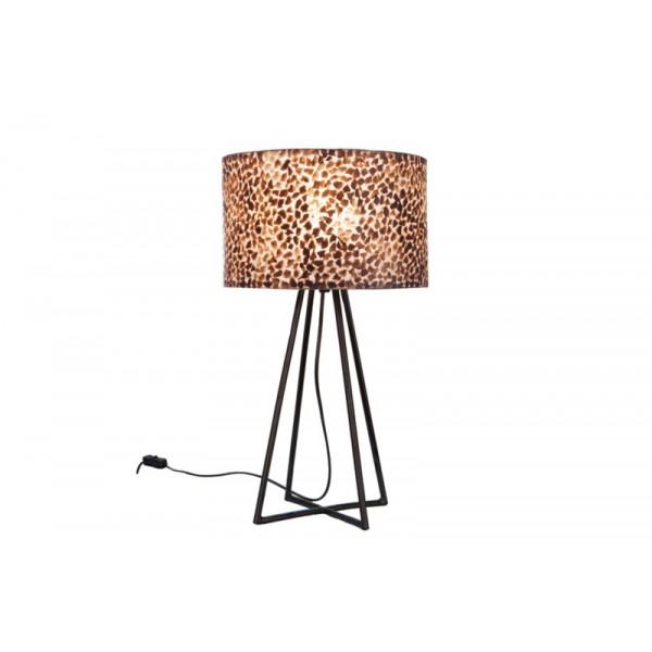 Tafellamp Wangi Gold met kap 28 cm