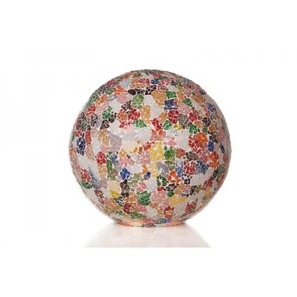 Tafellamp Glass Multicolor Staande bol 40 cm