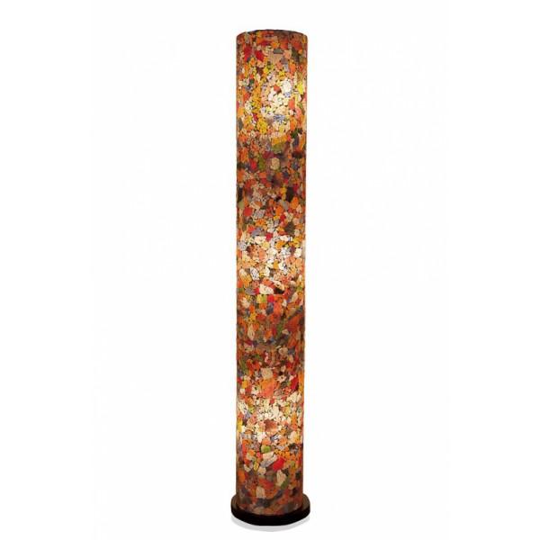 Vloerlamp Glas Multicolor Cilinder