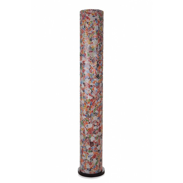 Vloerlamp Glas Multicolor Cilinder 200 cm