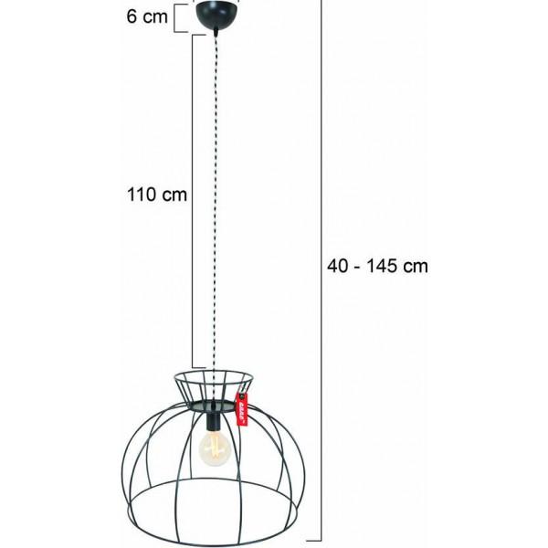 Hanglamp Crinoline Blauw Afmetingen