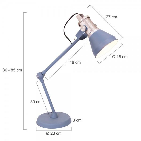 Tafellamp Brusk Series Afmetingen